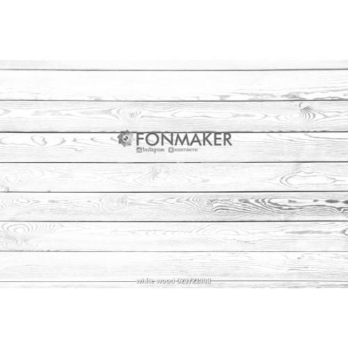 Фотофон Древесный Деметра для фотосъемки Белые доски