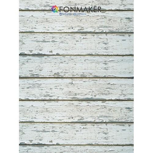 Фотофон Древесная текстура Аделита для фотосъемки Белые доски