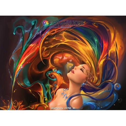 Фотофон Девушка Иллюзия для фотосъемки Абстрактные рисунки
