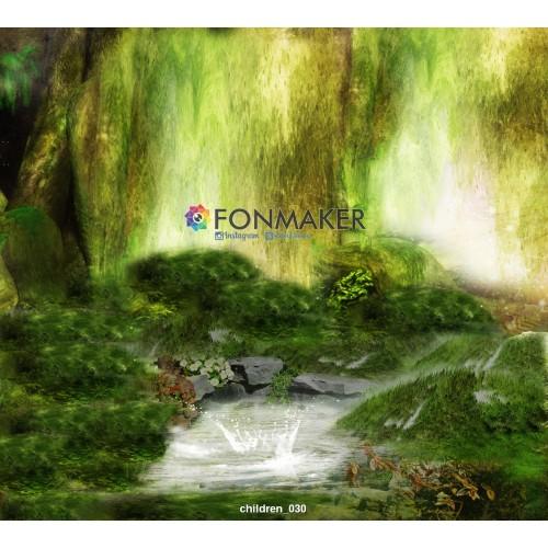 Фотофон Лесная Тишина для фотосъемки FONMAKER children 030