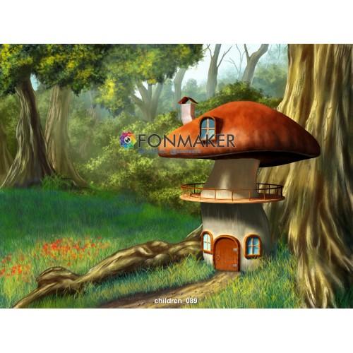 Фотофон Грибочный домик для фотосъемки ДЕТСКИЙ 089.jpg