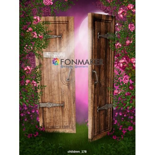 Фотофон Цветочный Забор  для фотосъемки ДЕТСКИЙ 178.jpg
