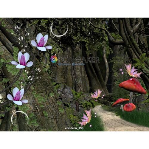 Фотофон Таинственный лес для фотосъемки ДЕТСКИЙ 198.jpg