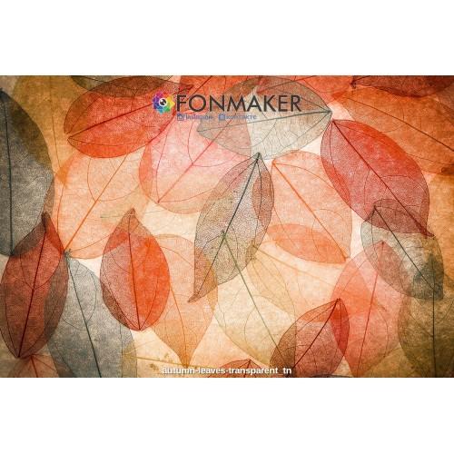 Фотофон Оранжевые листья для фотосъемки сюжетный Flatlay