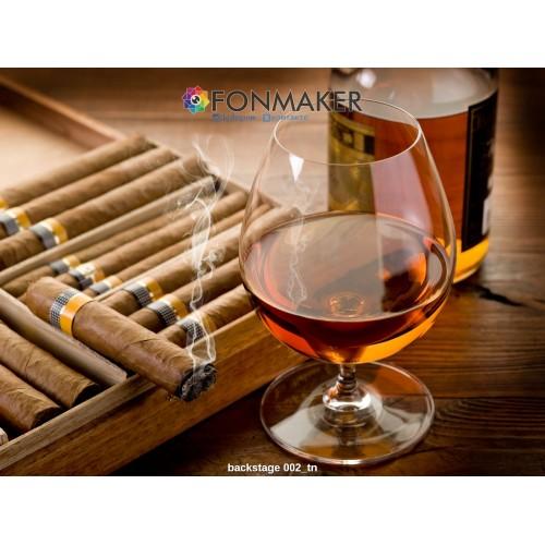 Фотофон ром и сигары для фотосъемки сюжетный Flatlay