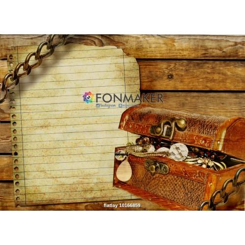 Фотофон сокровища для фотосъемки сюжетный Flatlay