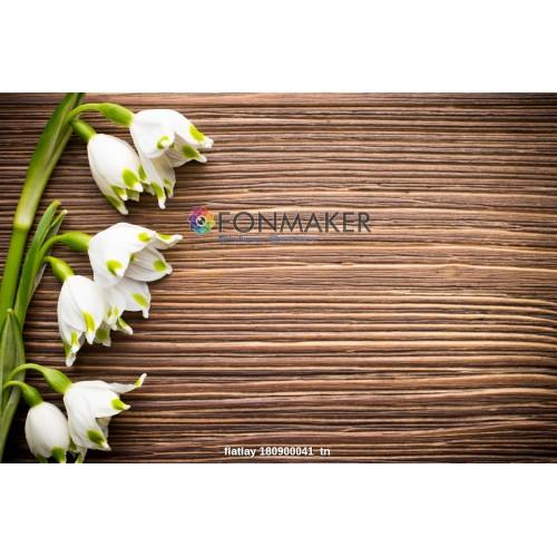 Фотофон белые цветы для фотосъемки сюжетный Flatlay
