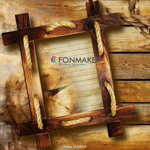Фотофон деревянная рамка для фотосъемки сюжетный Flatlay