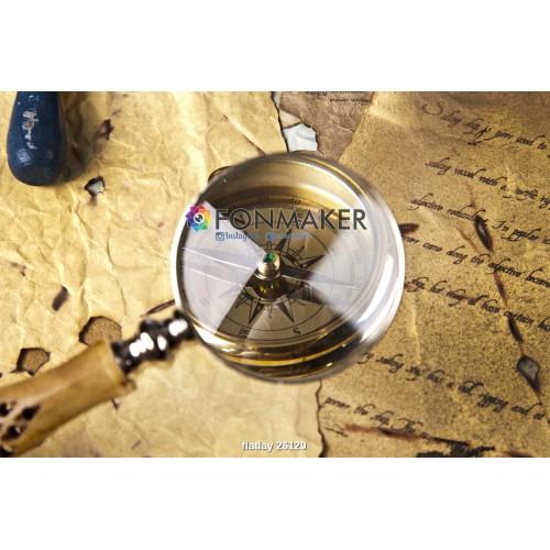 Фотофон компас для фотосъемки сюжетный Flatlay