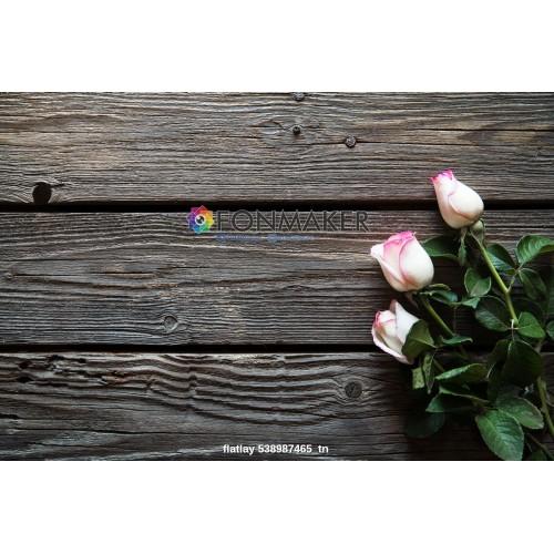 Фотофон розы для фотосъемки сюжетный Flatlay