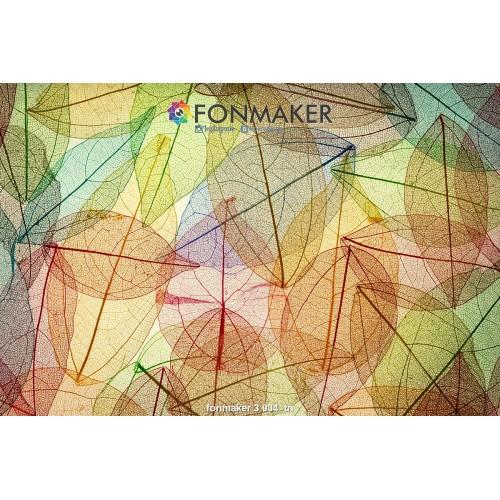 Фотофон разноцветные листья для фотосъемки в Инстаграм fonmaker 3 004