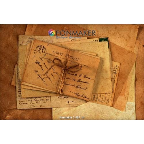 Фотофон старые письма для фотосъемки в Инстаграм fonmaker 3 007