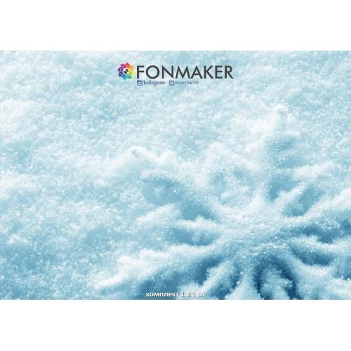Фотофон снежинка для фотосъемки в Инстаграм комплект 1 24