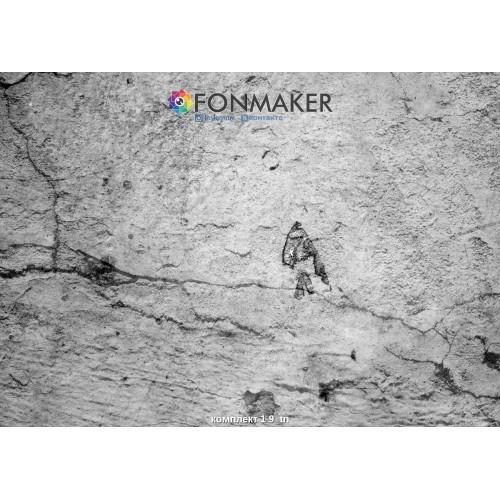 Фотофон наскальный рисунок для фотосъемки в Инстаграм комплект 1 9