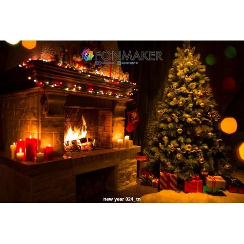 Фотофон Новогодняя Атмосфера  для фотосъемки FONMAKER — НОВОГОДНИЙ 024