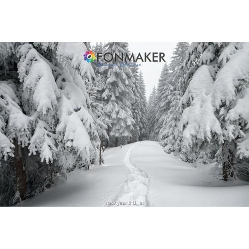 Фотофон Снежный Лес для фотосъемки FONMAKER — НОВОГОДНИЙ 041