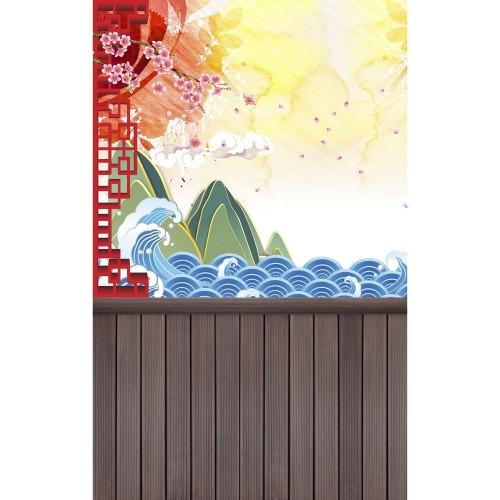"""Фотофон Стена Пол """"Сакура на ветру"""""""