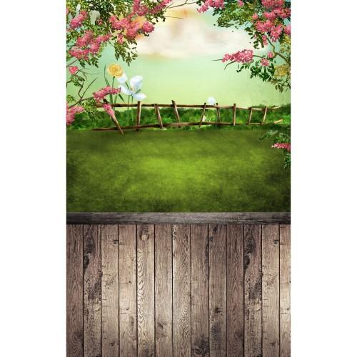 "Фотофон Стена Пол ""Цветущая лужайка"""