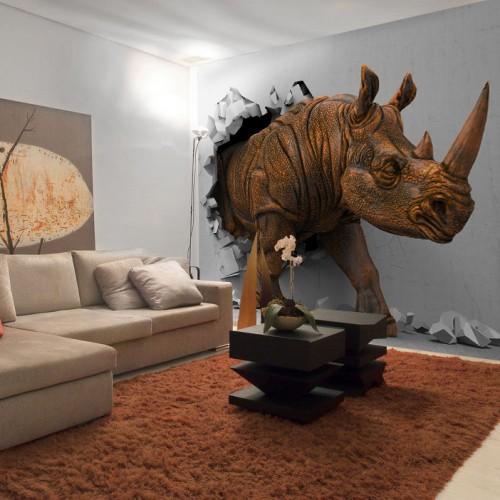 Фотообои Антимаркер носорог 6-A-6005