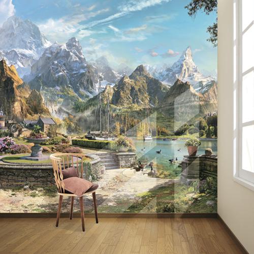 Фотообои Антимаркер величественные горы 6-a-616