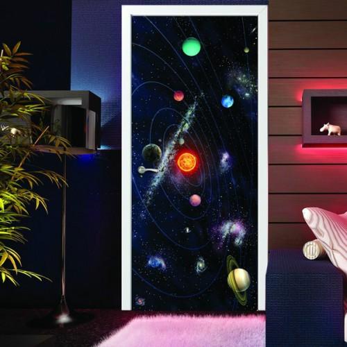 Фотообои Галактика на дверь Антимаркер Door's c-001