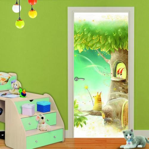 Фотообои Сказочный Баобаб на дверь Антимаркер Door's c-010