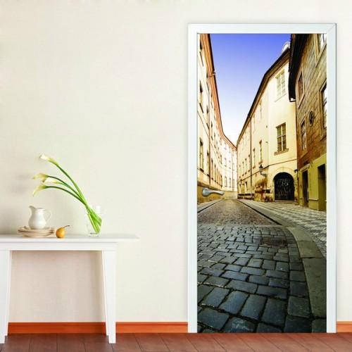 Фотообои Лондонский переулок на дверь Антимаркер Door's c-064