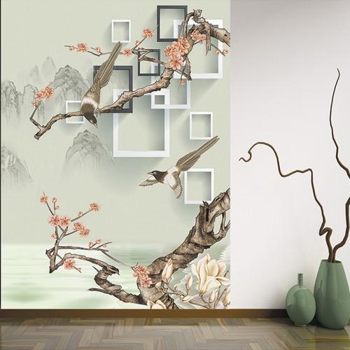 CityArt 3D Птицы на цветущих ветках, CA2099-50, 200х270 см
