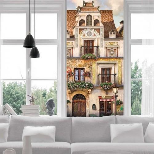 Текстурные фотообои стариный дом Color k-015