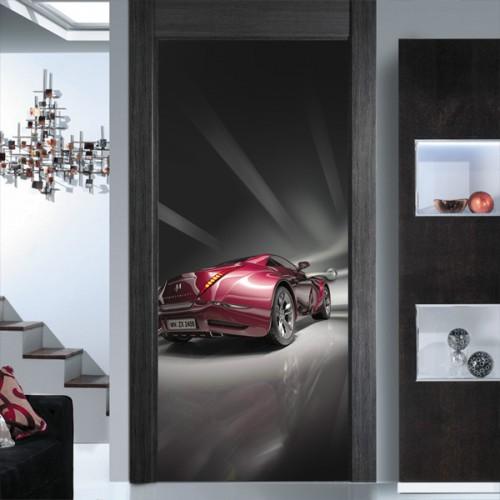 Фотообои красная машина Doorfix d-003