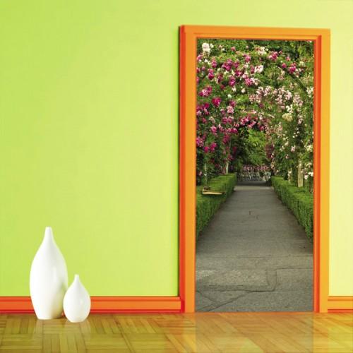 Фотообои розовый скверик Doorfix d-013
