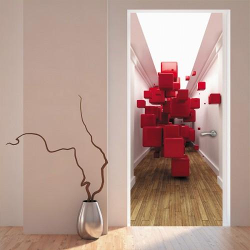Фотообои красные кубы Doorfix d-014
