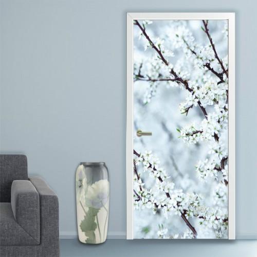 Фотообои белые цветы Doorfix d-037