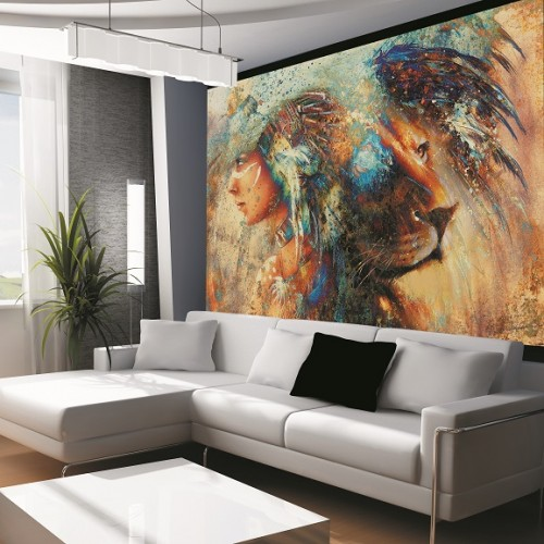 Обои Milan (Женщина-лев), M 603, 200х135 см