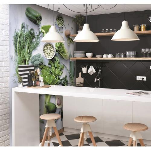 Обои Milan (Кухня, весенняя зелень), M 236, 200х270 см