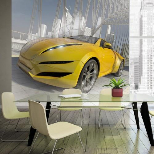 Обои Milan (Скорость, желтая машина), M 321, 300х270 см