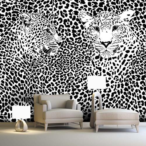 Обои Milan (Черно-белые леопарды), M 404, 400х270 см