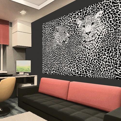 CityArt Черно-белые леопарды, CA0604, 200х135 см