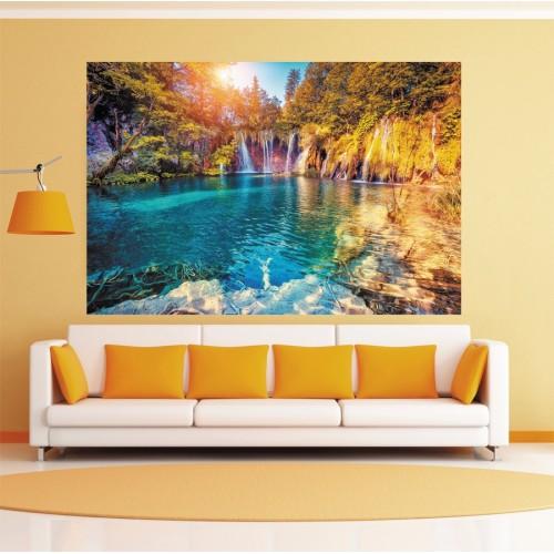 CityArt Лазурный водопад, СА0608, 200х135 см