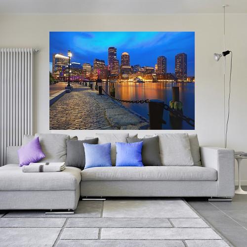 CityArt Ночная набережная в Бостоне, СА0658, 200х135 см