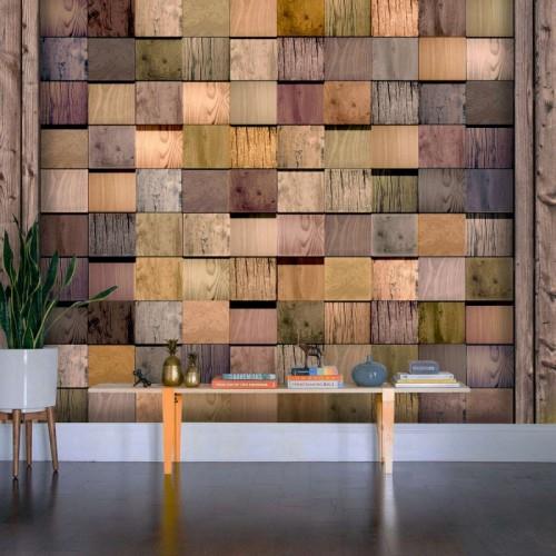 Обои Milan (3D Деревянный квадрат), M 5007, 200х180 см