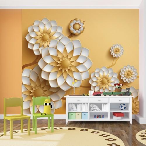 Обои Milan (3D Золотые цветы), M 3126, 300x270 см
