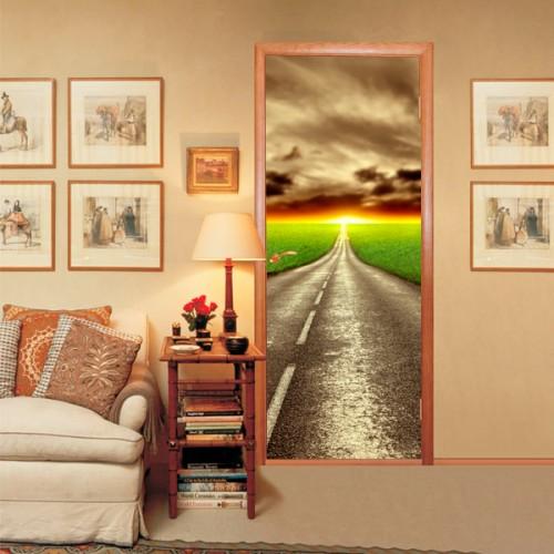 Фотообои дорога в закат Wallfix w-010
