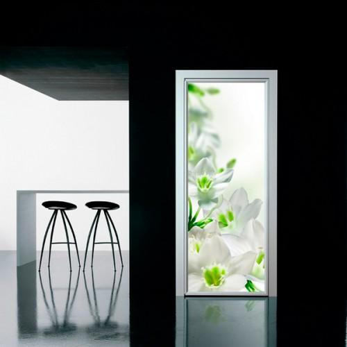 Фотообои белые цветы Wallfix w-114