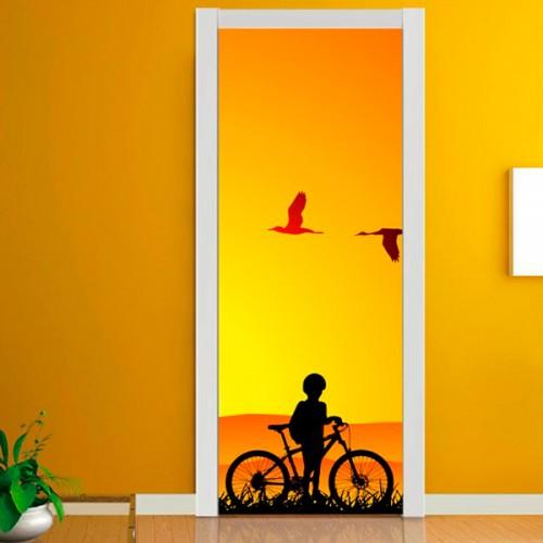 Фотообои мальчик с велосипедом Wallfix w-170