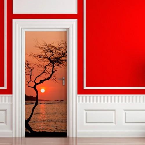 Фотообои деревце на закате Wallfix w-223