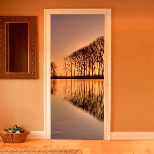 Фотообои деревья на закате Wallfix w-241