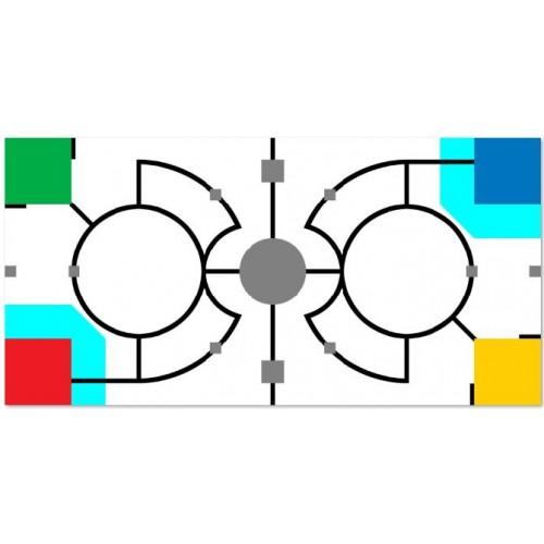 """Поле для подготовки к соревнованиям """"Турнир двух столиц по робототехнике"""" 120х240cm  РАСКОПКИ"""